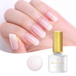 Urodzony dość Opal galaretki żel do paznokci polski 6 ml Semi-przezroczysty biały różowy lakier do Manicure Nail Art lakier żelo
