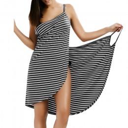 Wipalo 2019 Sexy Backless kobiety lato sukienka w paski dekolt w szpic Spaghetti pasek kobiety sukienki długość do kolan eleganc