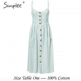 Modna letnia zwiewna sukienka damska zapinana na guziki na cieniutkich ramiączkach głębokie kieszenie odcinana pod biustem