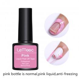 Lemooc 8 ml przeciw zamarzaniu odkleić Nail Art lateksowe skórek straż różowy skórek Protector Manicure lakier do paznokci do pa
