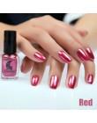 Moda lustrzany lakier do paznokci srebrny przezroczysty fioletowy różowe złoto kolor 6 ML długotrwały lakier do paznokci dziewcz