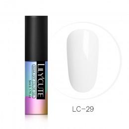 LILYCUTE seria nago lakier do paznokci 5 ml fioletowy czerwony czarny szary Soak Off lakier żelowy UV klej lakier do manicure la