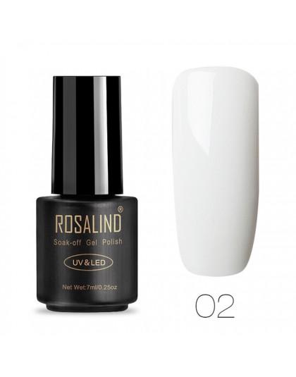ROSALIND lakier do paznokci Vernis Semi Permanent lakiery hybrydowe do paznokci Manicure do paznokci podkład żel akrylowy poli ż