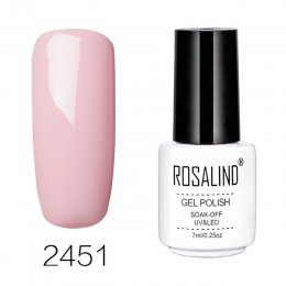 ROSALIND żel do paznokci lakier do paznokci zestaw do polerowania hybrydowy do Manicure 7 ML kolorów Semi Permanant do paznokci