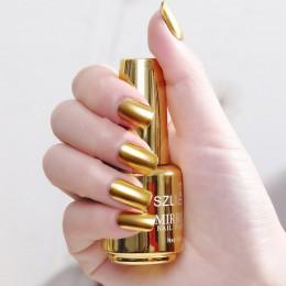 Profesjonalne metaliczne lakiery do paznokci z modnym efektem lustrzanym artykuły kosmetyczne kolor srebrny złoty różowy