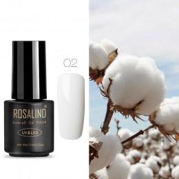 ROSALIND 7 ML lakier do paznokci żel lakier hybrydowy UV do Manicure Off Gellak biały Prime żel do malowania paznokci rozszerzen
