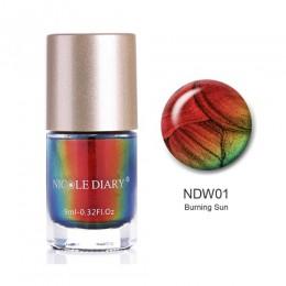 NICOLE pamiętnik opalizujące płatki zmieniający kolor lakier do paznokci Wonderworld serii cekiny lakier do paznokci Manicure po