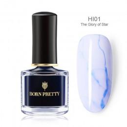 Urodzony dość kwitnący lakier do paznokci 6 ml gradientu akwarela atrament niebieski fioletowy lakier do paznokci Manicure DIY p