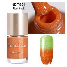 Profesjonalne lakiery hybrydowe do stylizacji paznokci do lampy UV brokatowe efekt ombre termiczne artykuły kosmetyczne
