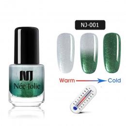 Z domu JOLIE 3.5 ml zima lakier do paznokci z termicznym lakierem do paznokci, zmieniający kolor, zmieniający kolor szybkie such
