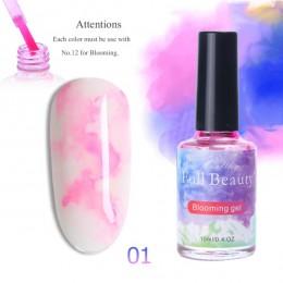 15 ML akwarela farby lakier do paznokci, kwitnącego żelu efekt dymu rozmazywanie bańka DIY lakier do paznokci Manicure wystrój p