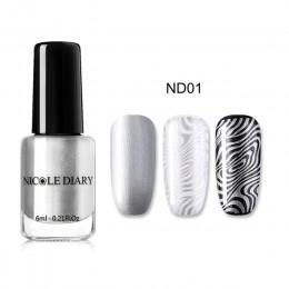 NICOLE pamiętnik metalowe tłoczenia lakier do paznokci Pure do paznokci kolor druku tłoczenia polski Nail Art Shimmer DIY lakier