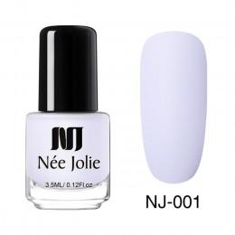 Z domu JOLIE 3.5 ml matowy matowy lakier do paznokci lakier zima Trend czysty kolor paznokci lakier do manicure do paznokci 12 w