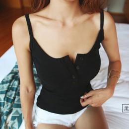 Foxmertor Crop Top 2019 nowy Tank Top lato Sexy Slim solidna bawełna kobiety bez rękawów Halter różowy czarny biały gorset Crop