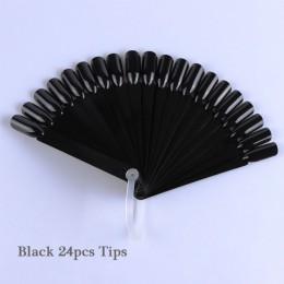 1 zestaw sztuczne paznokcie porady natura jasne czarny wentylator palec pełna karty do zdobienia paznokci praktyka do malowania