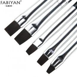 5 sztuk zestaw do paznokci pędzelek artystyczny płaskie pióro rysunek malarstwo porady czyszczenia kurzu akrylowy żel odbudowują