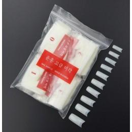 500 sztuk wyczyść biały naturalny francuski fałszywe tipsy akrylowe porady żel UV bardzo elastyczny-rozmiar 0-9 -zestaw 500 po