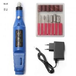 1 zestaw profesjonalny elektryczny do paznokci zestaw do paznokci porady maszyna do manicure elektryczne Nail Art Pen Pedicure 6