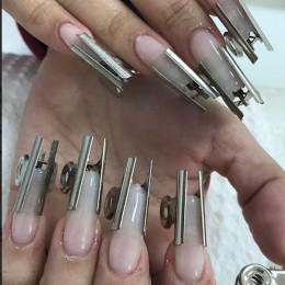 6 sztuk/zestaw rosyjski krzywej C do paznokci szczypanie narzędzie ze stali nierdzewnej tipsy akrylowe Pincher klipy akcesoria d