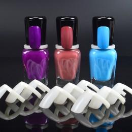 LCJ 50 sztuk lakier do paznokci żel UV kolor wyskakuje wyświetlacz naturalnych paznokci sztuki tipsów w kształcie pierścienia, w