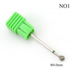 ERUIKA 1 PC diamentowe wiertła do paznokci piłka zadziorów plik elektryczny obcinacz do paznokci Manicure wiertła do paznokci Na