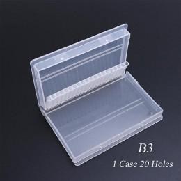 Pełne piękno 20 slotów pudełko do przechowywania do wiertła do paznokci pliki Bit uchwyt pojemnik Case wyświetlacz organizator a