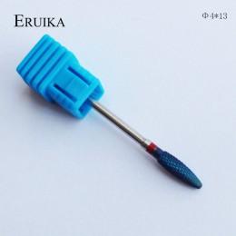 ERUIKA 6 typ niebieski wolframu zadziory węglika Nano powłoki wiertła do paznokci metalowe bity do frez do manicure akcesoria mł