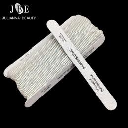 10 sztuk/partia szary dwustronnie drewniane pilniki do paznokci jednorazowe 180/240 Dispoable szlifowanie Manicure narzędzia do