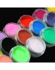 Proszek akrylowy 18 kolorowe paznokcie zanurzenie w proszku brokat do tipsy akrylowe sztuki proszek pył akrylowe UV proszek do p