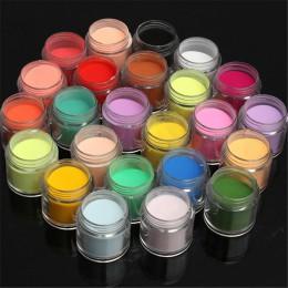 24 kolor Jumbo w porządku błyszczący brokat zestaw do zdobienia paznokci akrylowe UV proszek pył końcówki 3D DIY paznokcie sztuk