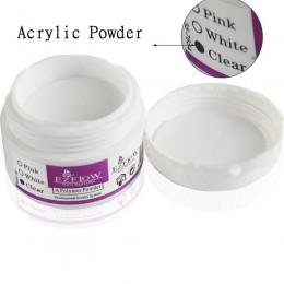 1 butelka kryształ akrylowy proszek do paznokci polimeru Nail Art porady Builder jasne akrylowy kolor proszek do